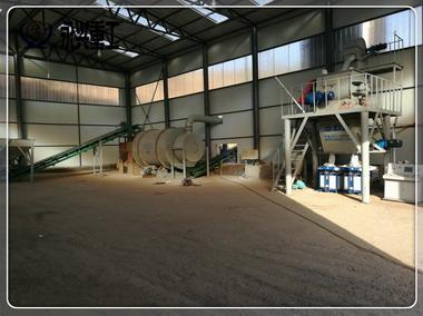 时产5吨带烘干砂浆生产线