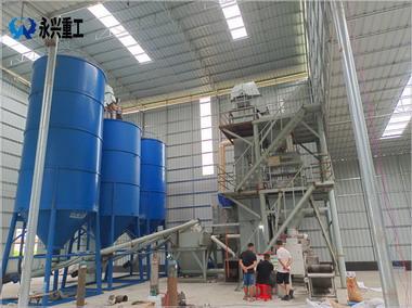 广东云浮誉沣建材时产15吨瓷砖胶砂浆生产线